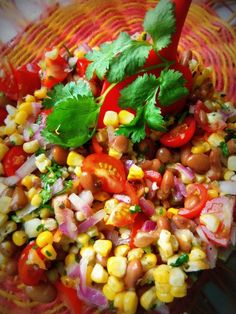 Grilled Corn and Pinto Bean Salad
