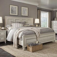 Get inspired by Farmhouse Bedroom Design photo by Wayfair. Wayfair lets you find the designer products in the photo and get ideas from thousands of other Farmhouse Bedroom Design photos. Farmhouse Master Bedroom, Cozy Bedroom, Bedroom Sets, Home Decor Bedroom, Bedding Sets, Girls Bedroom, Bedroom Curtains, Bedroom Romantic, Single Bedroom