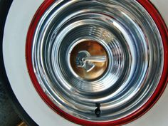 1953 Pontiac wheel cover. Photography by David E. Nelson