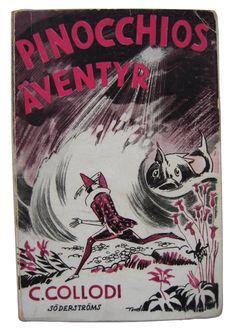 Tove Jansson's 1932 cover for Pinocchio