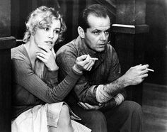Jessica Lange and Jack Nicholson on the set of The Postman Always Rings Twice, 1981