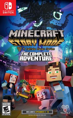 Telltale's 'Minecraft: Story Mode - The Complete Adventure' Debuts on Switch August 22