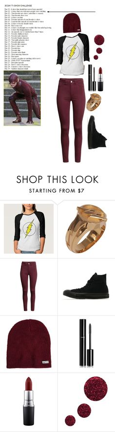 """""""Day 2 the flash"""" by weepingwillow12 ❤ liked on Polyvore featuring H&M, Converse, Neff, Chanel, MAC Cosmetics and Topshop"""