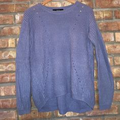 Blue oversized sweater Blue oversized knit sweater. Worn once! Forever 21 Sweaters Crew & Scoop Necks