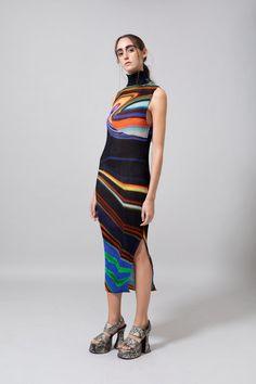 Julia Heuer Olaf Dress - Print Dawn | Garmentory Cut Off Tee, Textile Company, Swiss Design, Mother Denim, Fashion Line, Pink Brown, One Size Fits All, Print Design, Knitwear