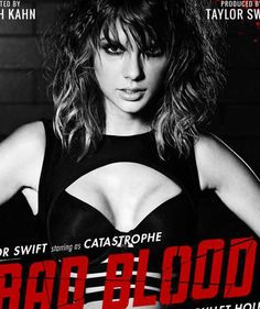 """Taylor Swift shows off a whole lot of cleavage in a sexy look for her """"Bad Blood"""" music video! 