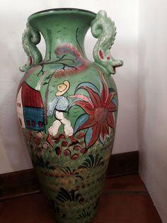 Mexican decor: Vintage Mexican pottery/vase