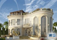 Stunning Modern Mansions – My Life Spot Villa Plan, Luxury House Plans, Dream House Plans, Modern Landscape Design, Modern Landscaping, Villa Design, House Design, French Style Homes, House Map