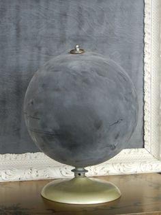 Fun future DIY possibility (chalk globe on etsy $68).