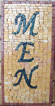 Installed Mosaics: Customized Signs Mosaic