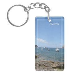 #Majorca Rectangle Acrylic #Key #Chain