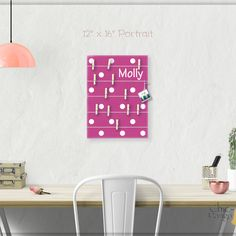 A beautiful way to display your cards and memos and decorate any room. This display board can be hanged in a dorm, kids room, teens room, office, kitchen, family space and more. Personalization option. 10 design options. Hand painted canvas with wooden clothespins. #giftforher #Bulletinboard #cardsdisplay #pinkdot #polkadot #Pink #pinkroomdecor #girlsroom #giftforgirl #teensroom #officeorganizer #memoholder #homeorganizer #personalizedgift #giftforteens #freeshipping #christmasgift…