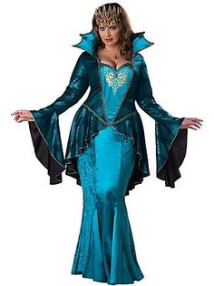 reminds me of a mermaid.....WOMENS PLUS SIZE MEDIEVAL QUEEN