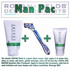 Don't forget about your men. If they have skin that is easily irritated from shaving visit my page adewitz.myrandf.com to get him an easy two step process to relieve his skin.