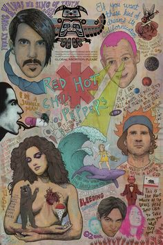 Red Hot Chili Peppers - Glorious Euphoria by Travis Braun, via Behance