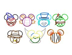 7 FOR 7 THEME PARK Set Mouse Heads Of 7 Seperate by PrevailDesigns, $7.00