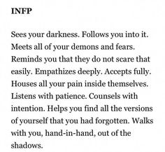 My favorite infp post to date! So fucken true! Infj Infp, Introvert, Intp, Infp Personality Traits, Infp Relationships, Infp Infj Relationship, Personalidad Infj, Infp Quotes, Psychology Quotes