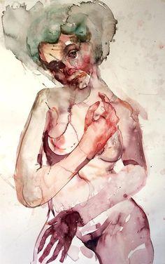 Dan Sabau_Lizzy watercolor  41 x 29
