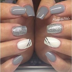 awesome Grey And Silver by MargaritasNailz from Nail Art Gallery - Pepino Nail Art Design