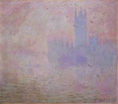 Claude Monet (1840-1926) - Houses of Parliament, Seagulls - 1903 - Princeton University Art Museum