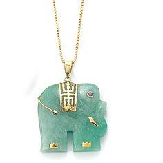Jade elephant necklace. :)