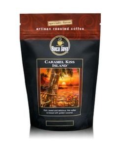 Boca Java Roast to Order, Caramel Kiss Island, Whole Bean, Flavored Direct Trade Coffee, 8 oz. bags (Pack of 2) * Remarkable product available  : Amazon fresh