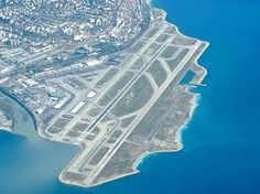 Nice airport, France