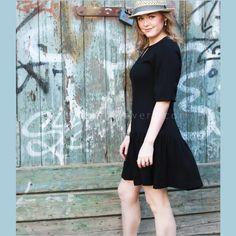 ριχτο μαυρο φορεμα χωρις πατρον με βολαν, οδηγιες ραπτικης, σε 30 λεπτα, φορεμα για αρχαριες και εμπειρες , tutorial, diy