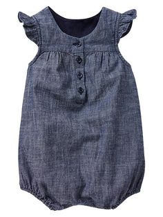 Chambray bubble one-piece Product Image