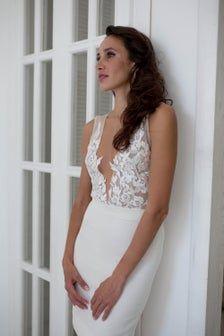 Two piece wedding dress Bridal separates Short wedding | Etsy Two Piece Wedding Dress, Wedding Skirt, Perfect Wedding Dress, Wedding Gowns, Lace Wedding, Wedding Bodysuit, Bridal Intimates, Bridal Tops, Bridal Separates