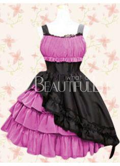 $198.99  Classic Cotton Straps Empire Knee-length Lolita Dress With Ruffles