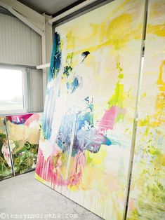 Colour, Light and Love – An Afternoon at Jessica Zoob's Studio....Fine Art, abstract art, Jessica Zoob