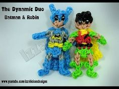 Rainbow Loom BATMAN figure (Adam West version). Designed and loomed by Kate Schultz of Izzalicious Designs. Click photo for YouTube tutorial. 05/10/14.