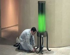 Fermentalg's zero-electricity lamp is powered by carbon dioxide-absorbing microalgae