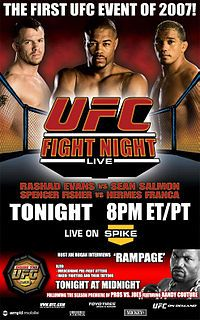 UFC Fight Night: Evans vs. Salmon.