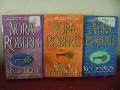 Key Trilogy Nora Roberts Key of Light Key of Knowledge Key of Valor Softcovers