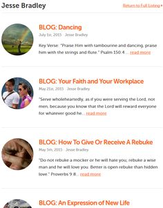 Click here to view  Jesse Bradley's Blog on twr360.org!