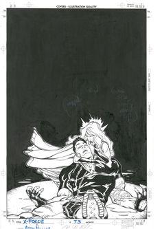 Adam Pollina - X-Force # 73 cover Comic Art