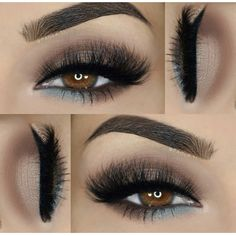 Gorgeous Makeup: Tips and Tricks With Eye Makeup and Eyeshadow – Makeup Design Ideas Black Eye Makeup, Eye Makeup Tips, Makeup For Brown Eyes, Smokey Eye Makeup, Makeup Goals, Skin Makeup, Eyeshadow Makeup, Cat Makeup, Makeup For Black Dress