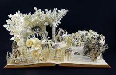 3D Alice in Wonderland Book Sculpture One of a by jamiebhannigan, $230.00