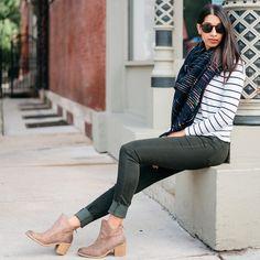 Mya Olive Raw Hem Skinny Jeans