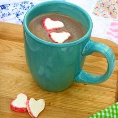 Quick hot chocolate and adorable homemade marshmallows.