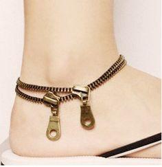 Zipper Fashion Statement Anklet (Ankle Bracelet)