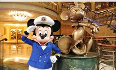 Captain Mickey Mouse aboard the Disney Cruise!