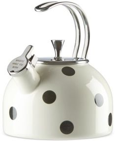 Tea Kettle kate spade new york All in Good Taste qt. Tea Kettle in Dots kate spade new york All in Good Taste qt. Tea Kettle in Dots Teawith Kettle Kitchen Gadgets, Kitchen Appliances, Wine Gadgets, Top Gadgets, Kate Spade New York, Stainless Steel Stove, Cocina Shabby Chic, Ideas Hogar, Home Living