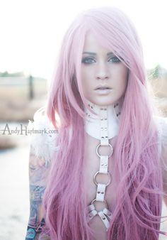 hair, hair color, pink hair, pink, pastel, Kelly Eden