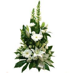Tall Floral Arrangements, Contemporary Flower Arrangements, Funeral Flower Arrangements, Beautiful Flower Arrangements, Elegant Flowers, Floral Centerpieces, Altar Flowers, Church Flowers, Funeral Flowers