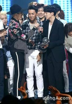 Two leaders and one ex-leader. #Mino #Seungyoon #Zico #Winner #BlockB #YG