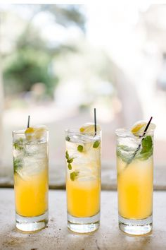 Signature drinks at the Bliss and Bespoke Retreat.