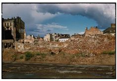 During World War II of Warsaw was destroyed. Dramatic snaps in colour show the centre of the city, including Śródmieście, Old Town and m. Bad Memories, Color Show, Colour, Warsaw, World War Ii, Old Town, Poland, Monument Valley, Mansions